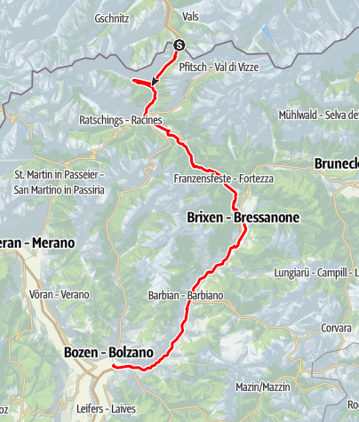 Map / Brennero-Bolzano Bicycle Route