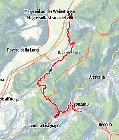 Map / From Laghetti to Pochi on the Dürer path