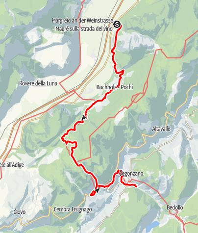 Mappa / Da Laghetti fino a Pochi sul sentiero di Dürer