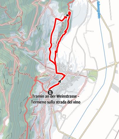 Cartina / Sentiero Natura Viva Termeno