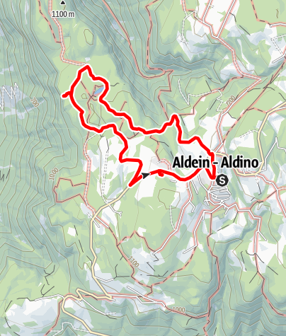 Map / Round trail Lago Göller and Rocce Rosse/Rotwand