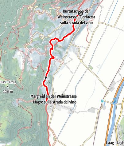 Karte / Kurtatscher Weinlehrpfad
