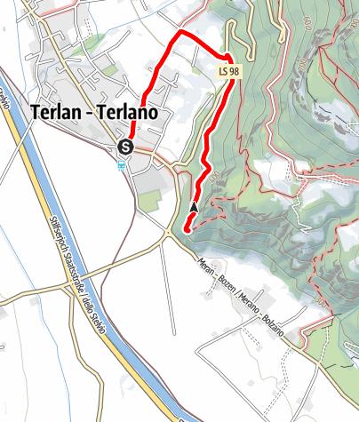 Cartina / Da Terlano alle rovine di Castel Neuhaus (o Castel Maultasch)