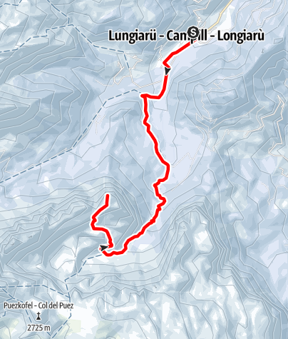Mapa / Skitouren zum Zwölferkofel