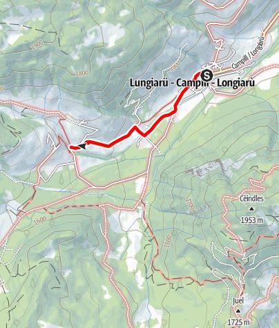 Carte / Winterwanderung: Lungiarü - Mühlental