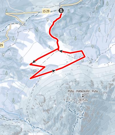 Mapa / Würzjoch Rundwanderung