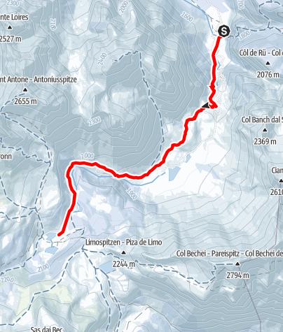 Karte / Winterwanderung zur Fanes-Alm