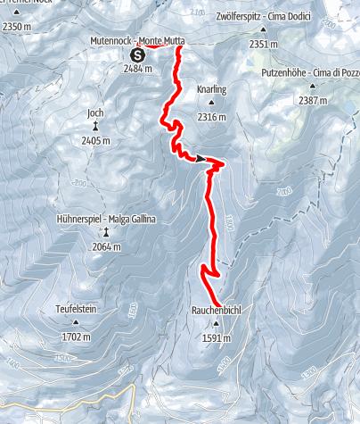 Mapa / Ski Tour  auf den Mutenock