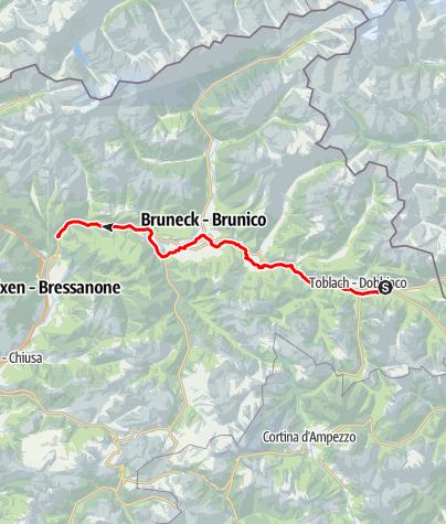 Cartina / Percorso ciclabile Val Pusteria