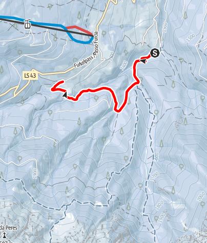 Mapa / Schneeschuhwanderung Bad Bergfall - Berggasthof Trattes