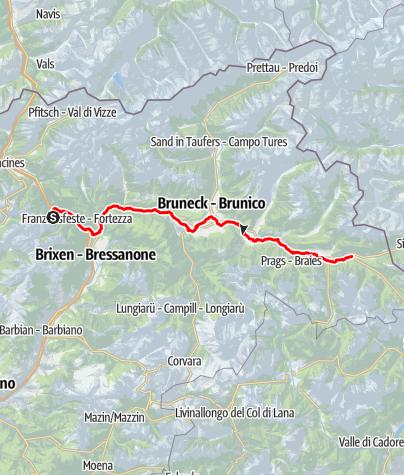 Mapa / Pustertal Radweg Olang