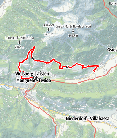 "Map / Hiking tour on the ""Lottersteig"""