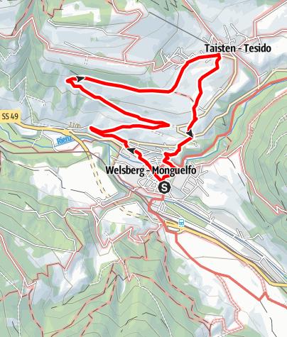 Mapa / Wanderung auf dem Dolomiten-Panoramaweg