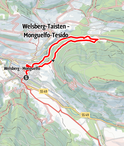 Kaart / Die große Schlossrunde
