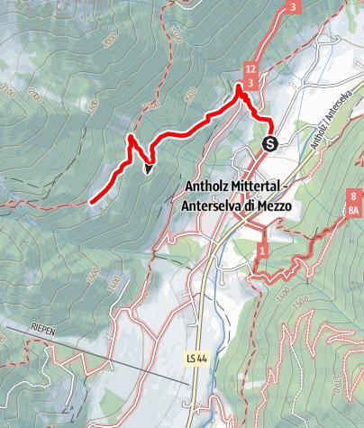 Mapa / Wanderung zur Kumpflalm