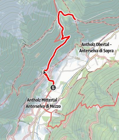 Karte / Wanderung zur Schwörzalm