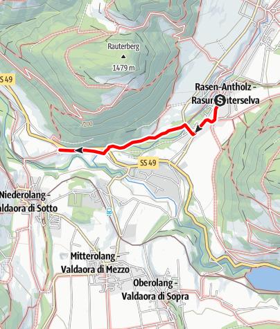 Kaart / Spaziergang von Niederrasen nach Neunhäusern