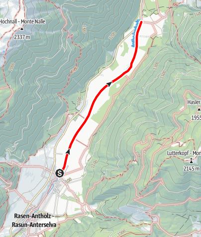 Mapa / Wanderung: Oberrasen - Bad Salomonsbrunn
