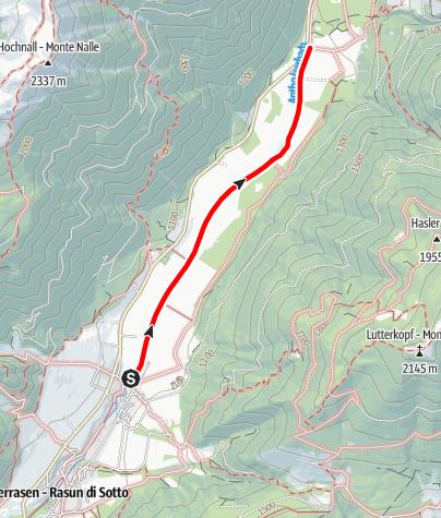 Karte / Wanderung: Oberrasen - Bad Salomonsbrunn