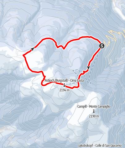 Kaart / Schneeschuhwanderung auf das Astjoch