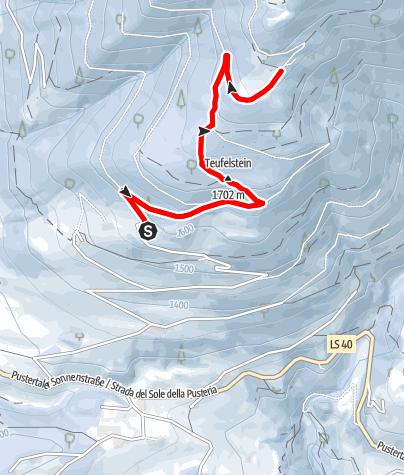 Map / Escursione alla Malga Pertinger/Pertinger Alm