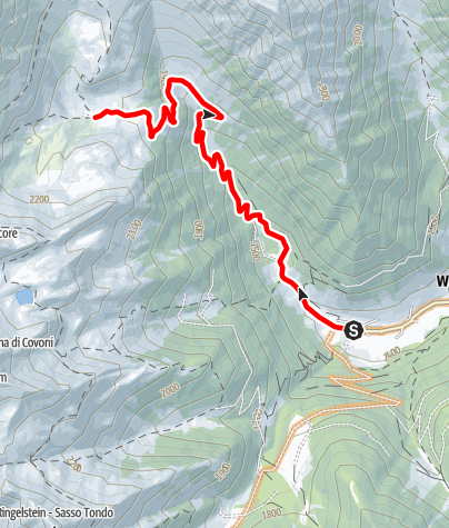 Kaart / Mountainbiketour zur Gögealm