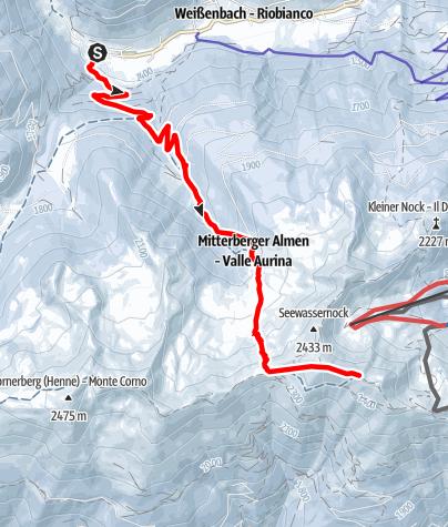 Mapa / Skitour zum Speikboden 2.517 m