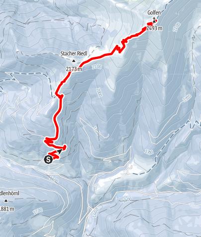 Mapa / Schneeschuhwanderung: Frondeigen - Golfen