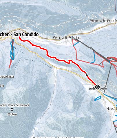 Mapa / Winterwanderung - Von Sexten nach Innichen