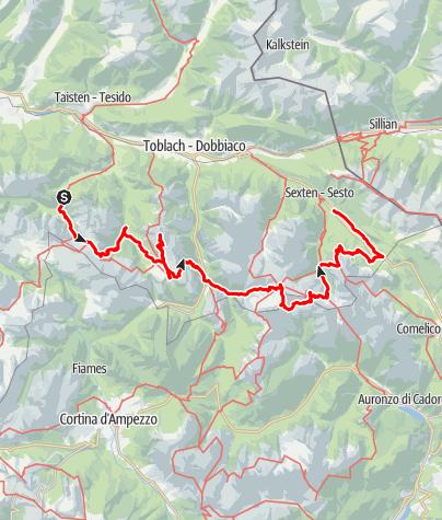 Map / Alta Pusteria Alpine Ridgeway