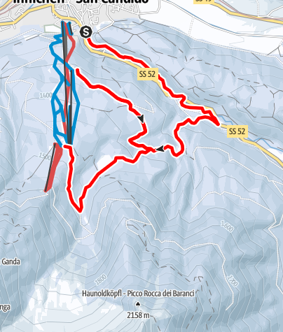 Map / Winter hike: Wildbad Springs - Riese Haunold Hütte Mountain Hut