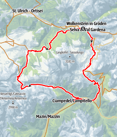 Map / Clockwise Val Duron tour