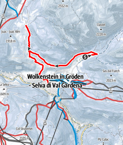Map / Winterexcursion from Vallunga along via Crucis until Juac