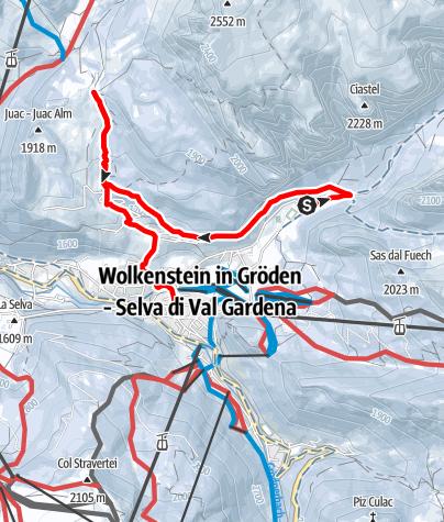 Mapa / Winterwanderung vom Langental über den Kreuzweg bis zum Juac