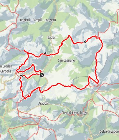 Cartina / Trekking plurigiornaliero sull'Alta Via dell'Alta Badia