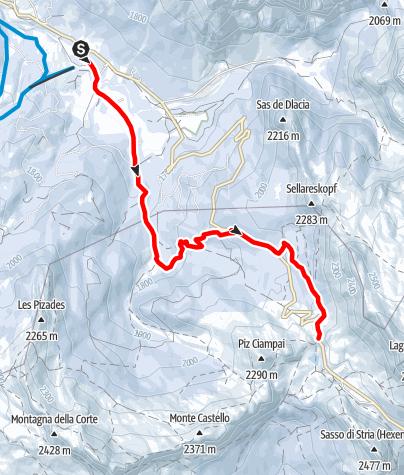 Karte / Schneeschuhwanderung durch die Wälder von Armentarola/Saré