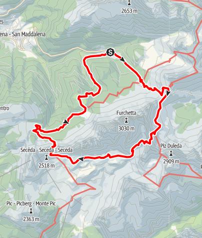 Karte / Die Geisler Ronda