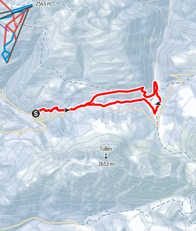 Karte / Schneeschuhwanderung Halsl