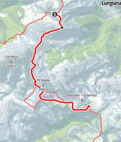 Karte / Europa Höhenweg 2 - 7. Etappe Südtirol