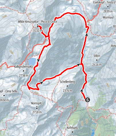 Карта / Bergtour zur Wilden Kreuzspitz