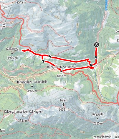 Mapa / Durch den Zirbenwald  zum Maurerberg