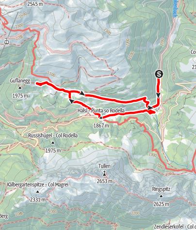 Karte / Durch den Zirbenwald  zum Maurerberg