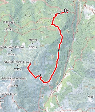 Mapa / Wanderung zum Saurüssl