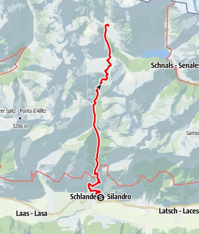 Kaart / Wanderung entlang dem Ötzisteig
