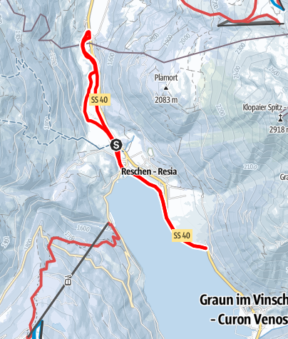 Map / cross country skiing on the three country trail