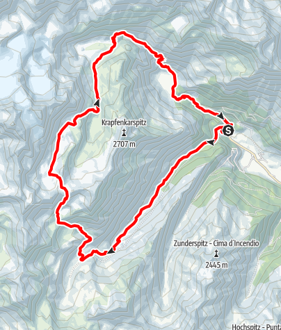 Karte / Wanderung zu den Sieben Seen