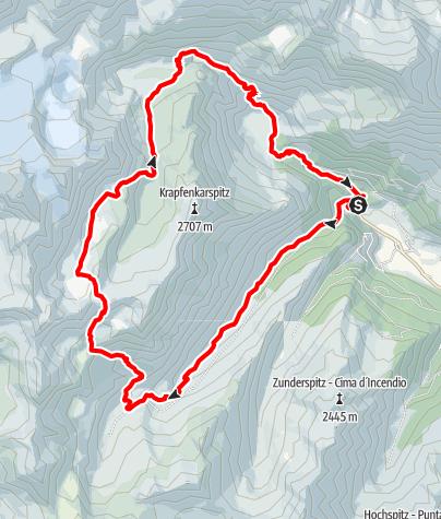 Kaart / Sieben Seen Wanderung