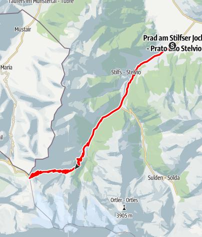 Cartina / Sul Passo Stelvio