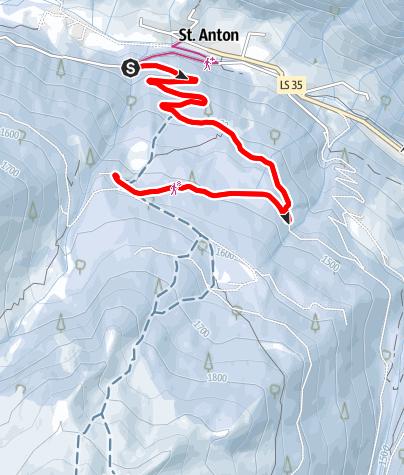 Mapa / Allriss Winterwanderweg