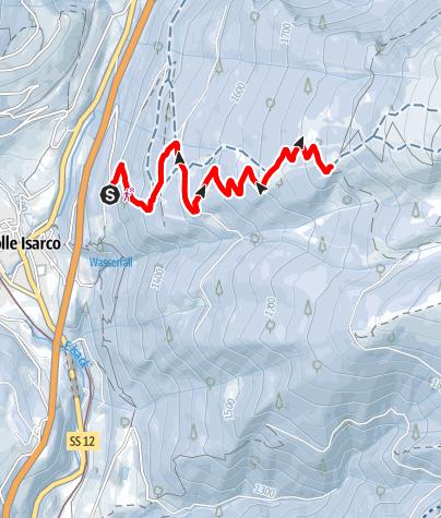 Mapa / Hühnerspielhütte Winterwanderweg